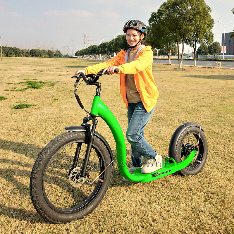 Riding Testing of Sobowo New-designed E-Cruise Electric Kickbike Fat Tire Electric Scooter!
