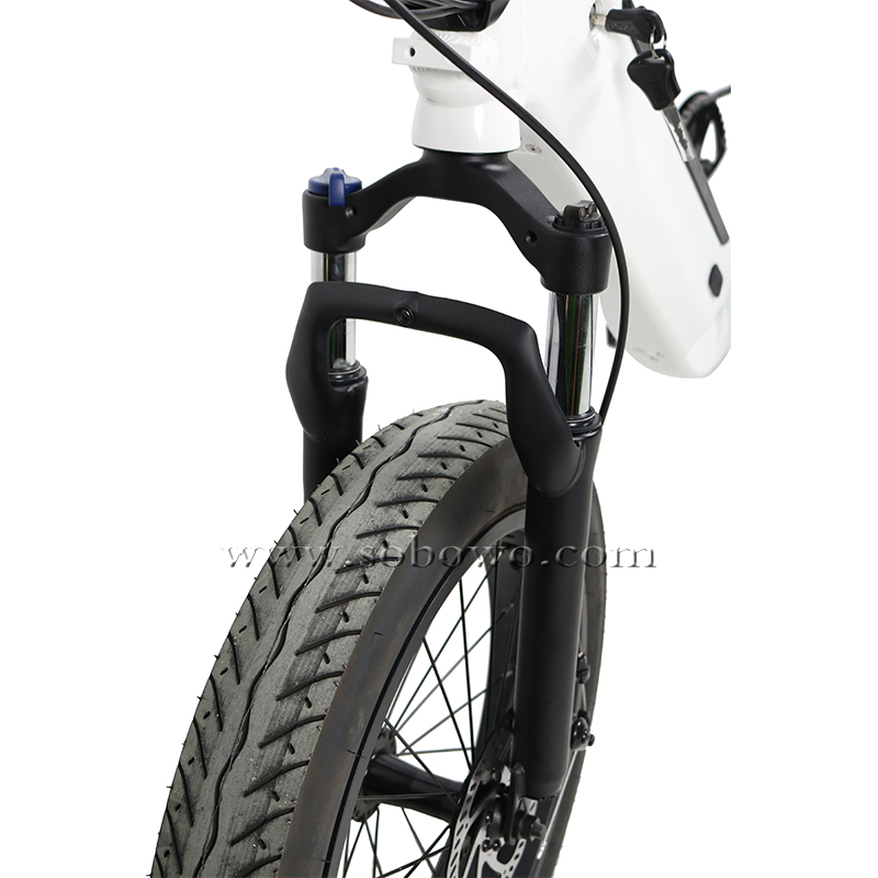 "Model SF15 20"" 4.0"" Fat Tires Folding Electric Bike Bicycle with Hidden Battery and Integrated Wheel"